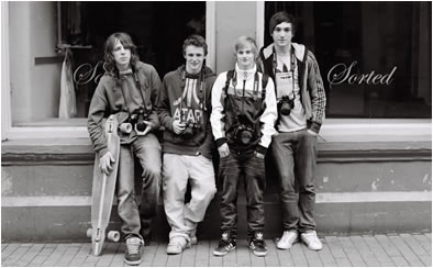 group of boys Hereford 1990